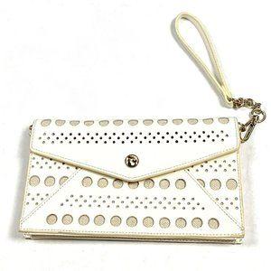 Spartina 449 Womens Ivory Patent Leather Mini Bag